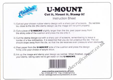 Umount A5 Repositional Sticky Cushion for Mounting Rubber Stamps